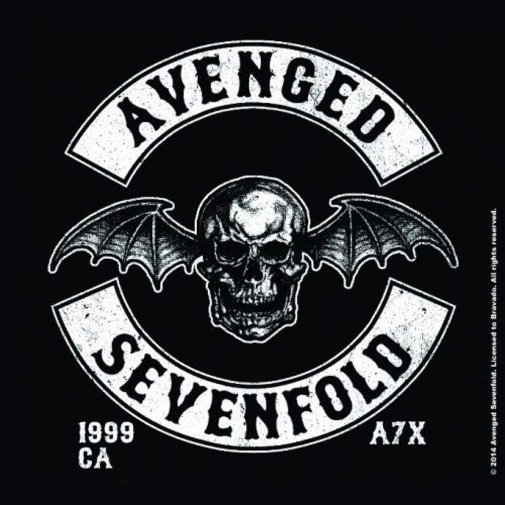 Avenged Sevenfold Coaster Deathbat Crest Band Logo Official Single Drink