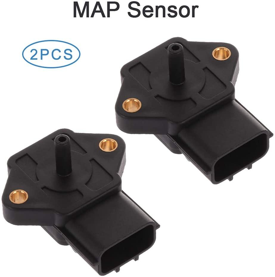 ECCPP 2PCS Manifold Absolute Pressure Sensor Fit For 1997 Kia Sephia 1999-2005 Mazda Miata 1997-1998 Mazda Protege 2003-2004 Baja MAP Sensor