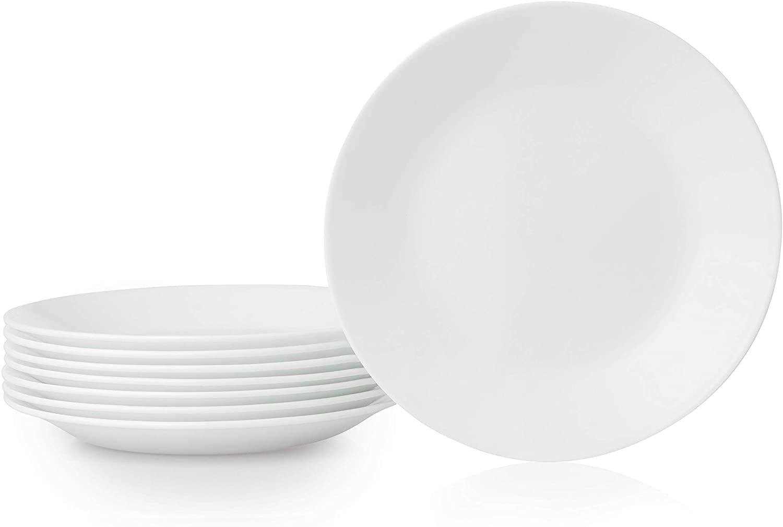 Corelle Bread Plates, 8-Piece, Winter Frost White