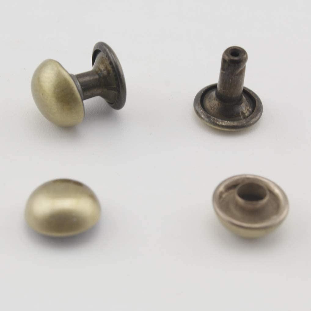 Anti Bronze, 5mm Copper Dome Rivet and Setting Tools, Purse Rivets Spike Rivet Studs Spots Leather Rivet for Bag Making, Clothing, Shoes. 50 Sets per lot H26