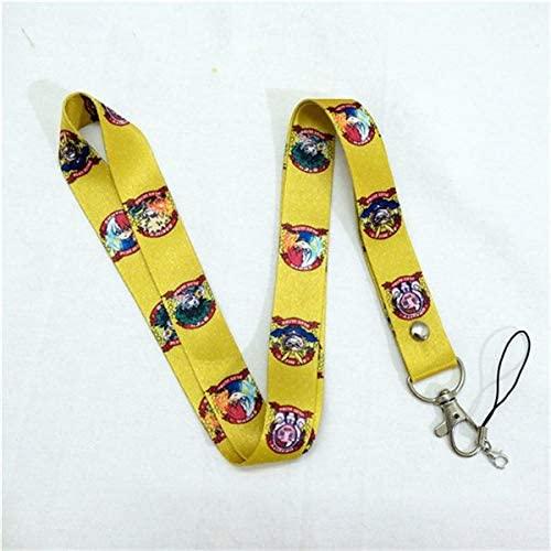 Momoso_Store my hero academia badge lanyard for keys id holders keychain neck straps boku no hiro mobile phone neck straps