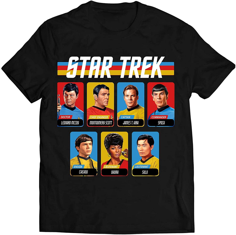 Original Star Trek Shirt Gift Vintage Retro Rainbow Graphic T-Shirt for Men