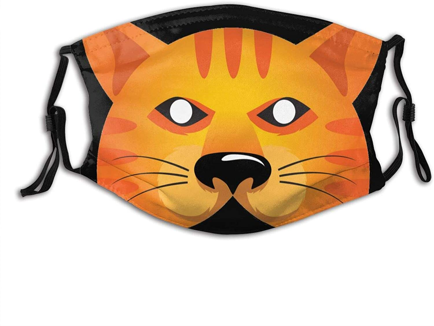 Cool Siberian Cat Face Mask Washable & Reusable - Adjustable & Breathable Fliter Fashion Scarf
