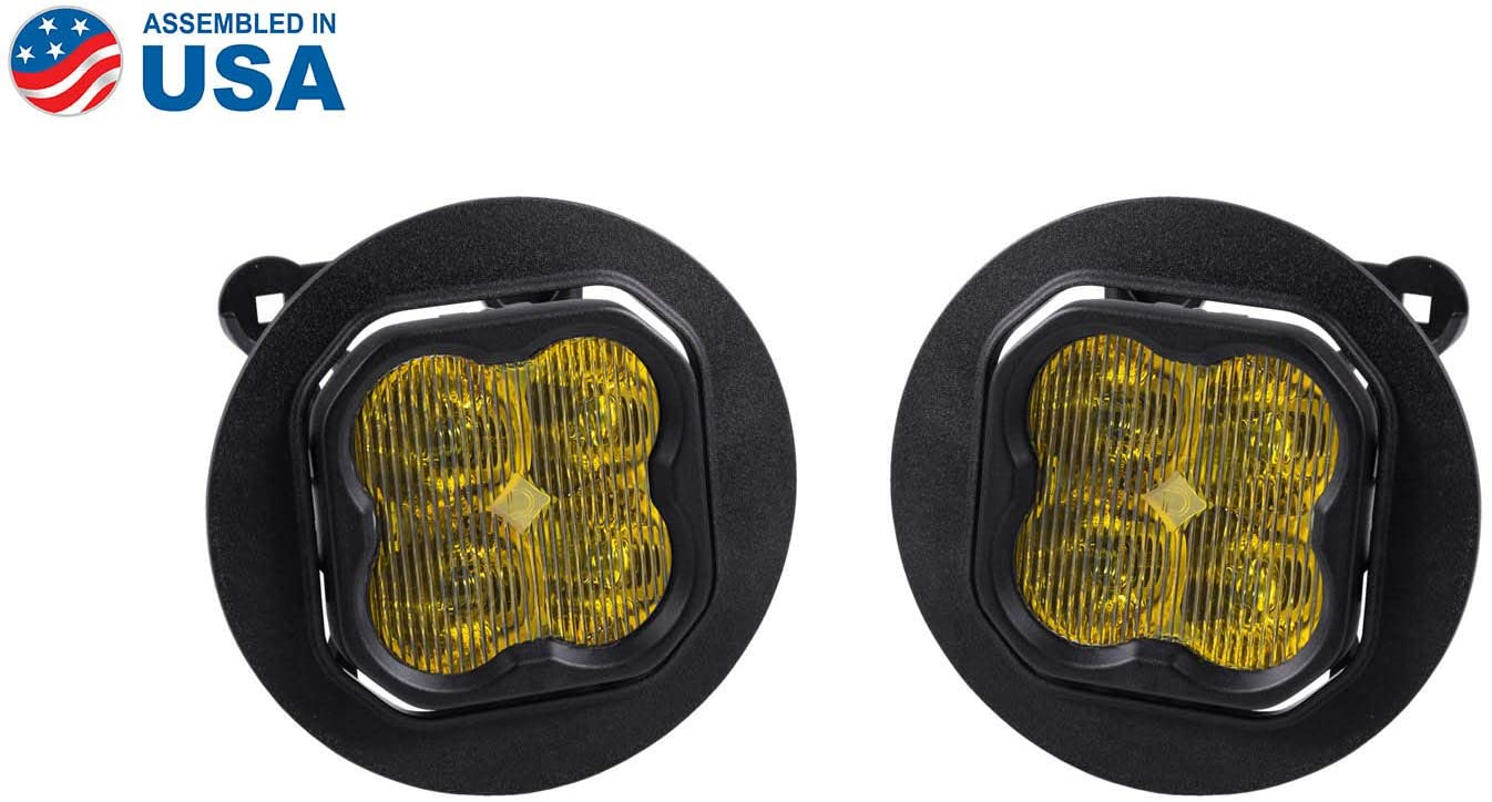 Diode Dynamics SS3 LED Fog Light Kit compatible with Subaru Outback 2013-2019, Yellow SAE/DOT Fog Sport
