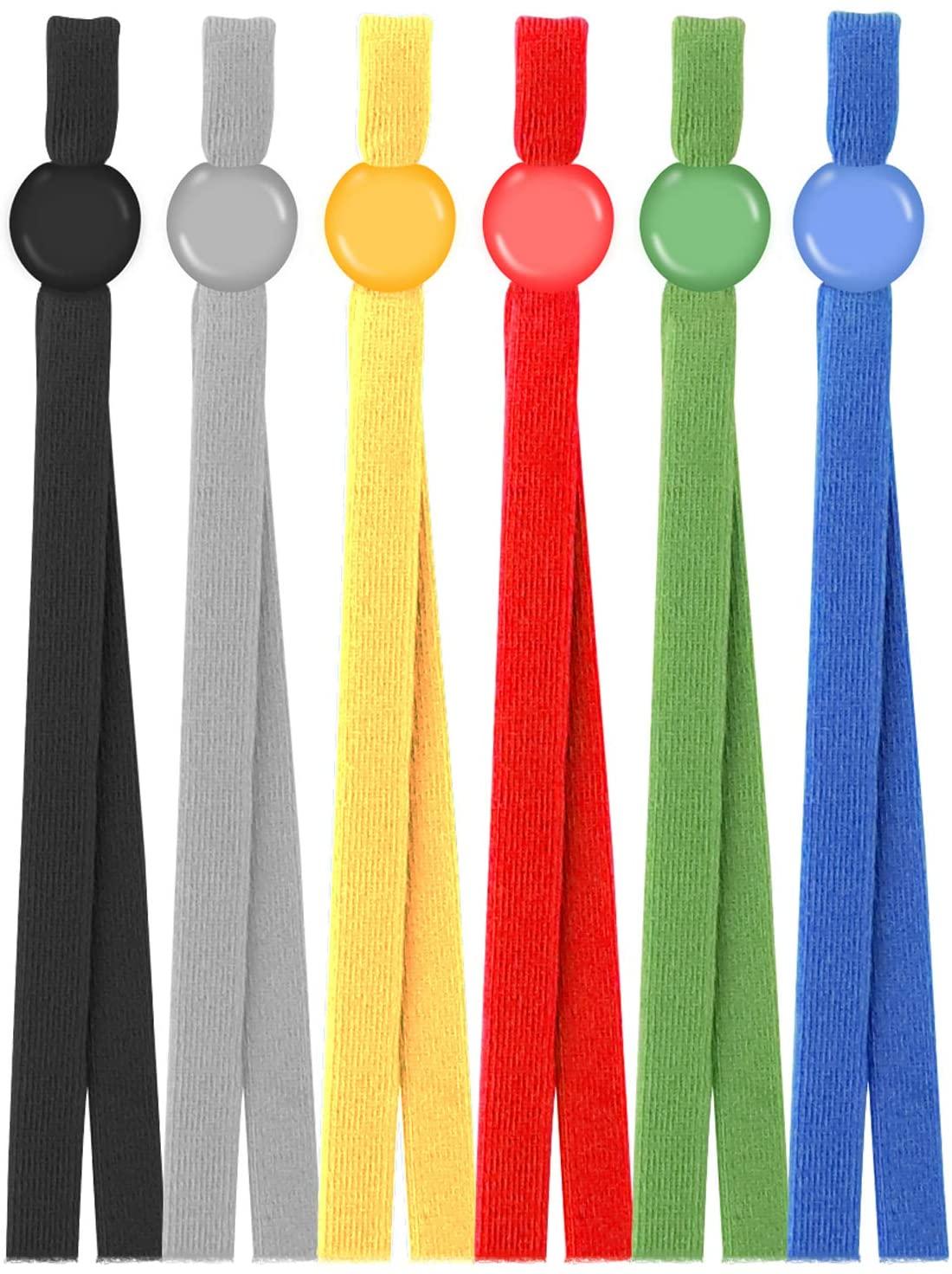 Adjustable Elastic Ear Loops for Mask for Adult/Children, Elastic String for DIY Making with Adjustment Buckles (Multicolour1-120)