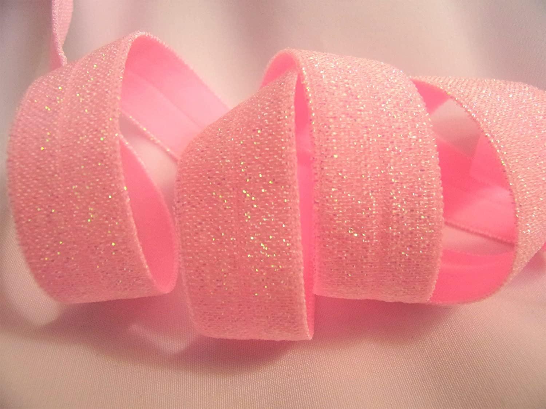 Fold Over Elastic - Shimmery Summer Pink FOE- 5/8