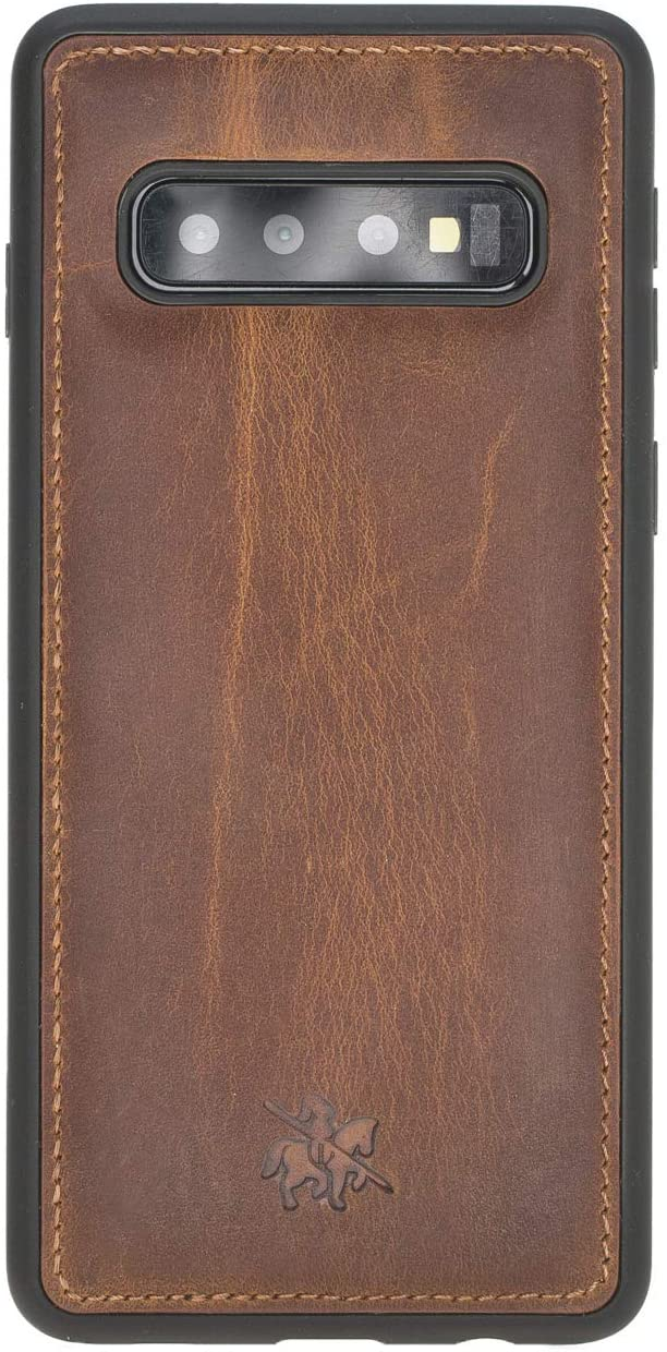 Venito Lucca Leather Case Compatible with Samsung Galaxy S10 (6.1inch) – Extra Secure with Padded Back Cover - Antique Brown
