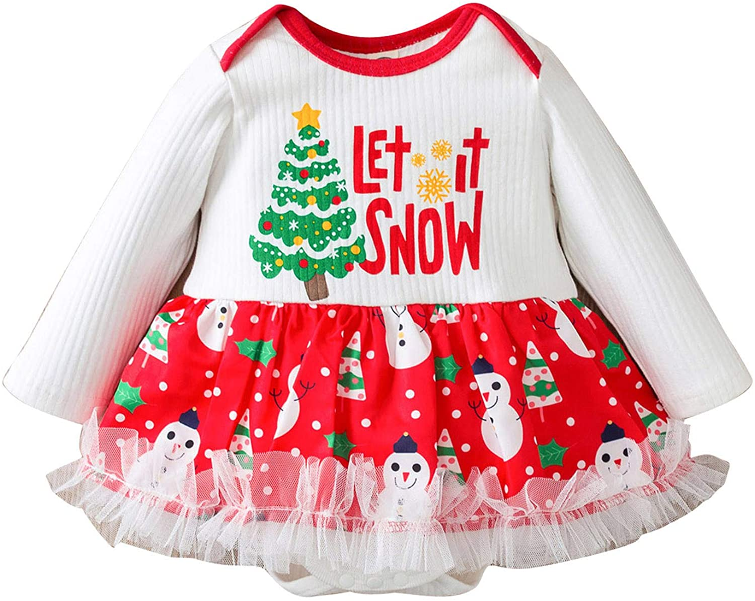 Lingery Kid Winter Clothing,Infant Newborn Baby Girls Christmas Tutu Skirt Romper Bodysuit Clothes 2020 New