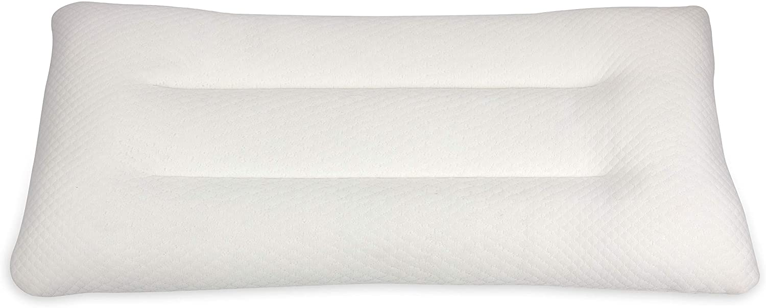 Cheer Collection Natural Shredded Latex Pillow Firm Eco-Friendly Foam Pillow with Bamboo Cover, King Size - 18