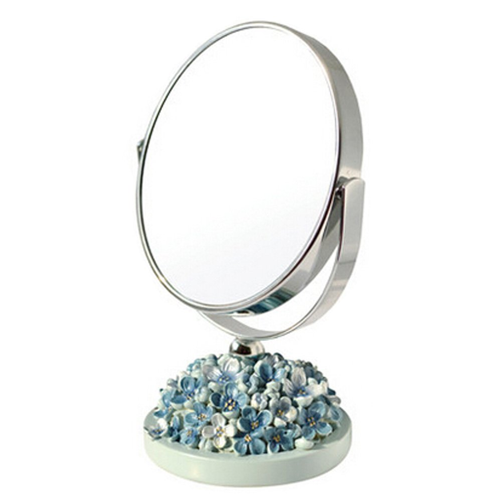 Make-up Mirror 5-Inch Tabletop Two-Sided Cosmetic Mirror Blue