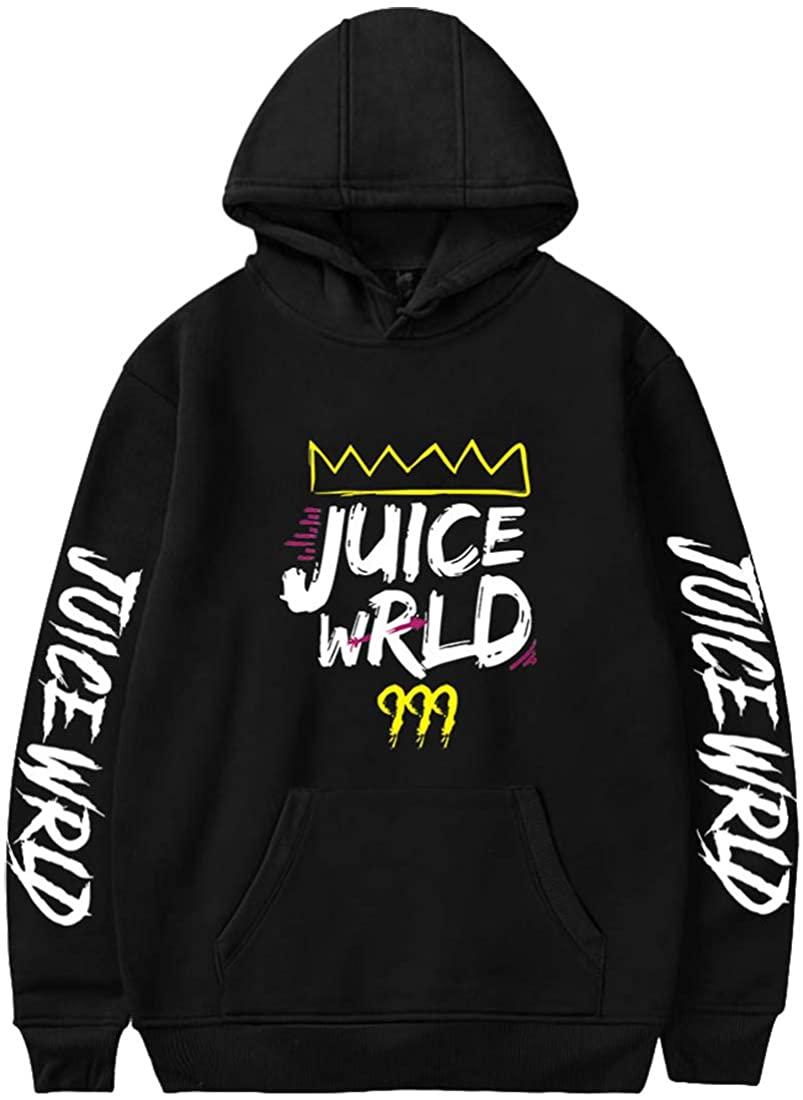 EMILYLE Juice Wrld Unisex Hip Hop 999 Black Hoodies Men's Fashion Sweatshirt XXS-4XL