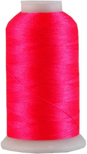 Threadart Polyester Machine Embroidery Thread By the Spool - No. 909 - Neon Flamingo - 1000M - 40wt - 220 Colors Available
