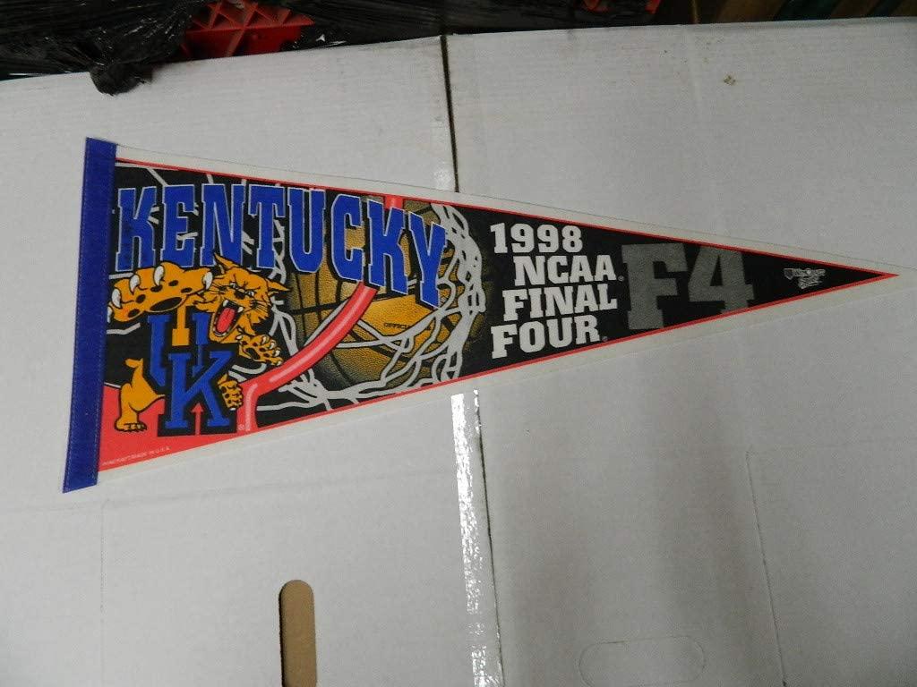 1998 NCAA Final Four Champions KENTUCKY WILDCATS BASKETBALL PENNANT