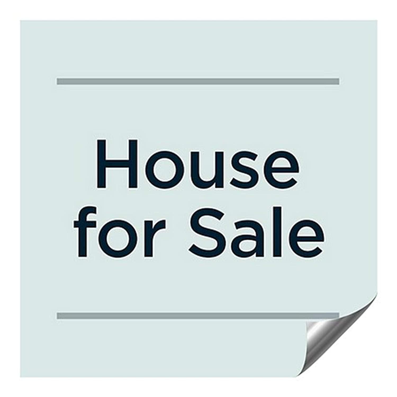 CGSignLab 2461626_5gfxa_36x36_None House for Sale -Basic Teal Heavy-Duty Industrial Self-Adhesive Aluminum Wall Decal, 36