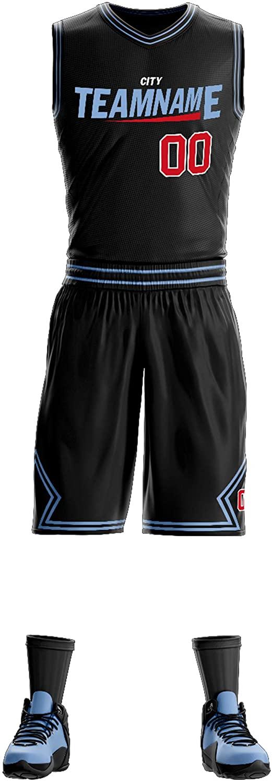 Custom Athletic Basketball Jersey Uniform Tank Top Shirt & Short for Men/Youth/Women,Big Size
