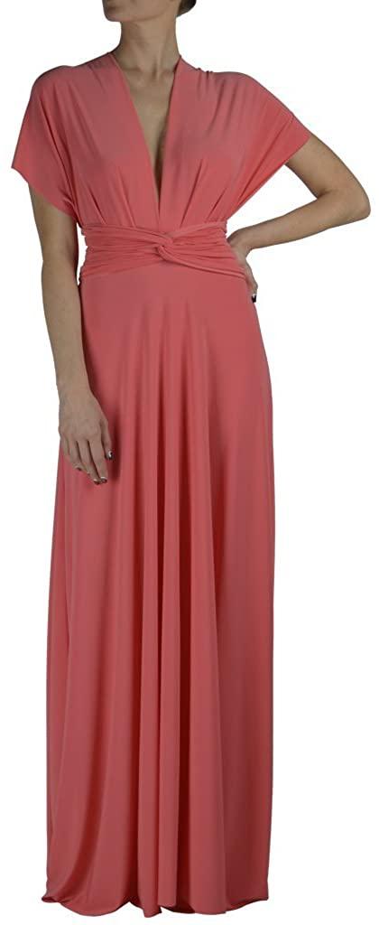 Von Vonni Transformer/Infinity Dress Plus Sizes Listing #2 (XL-3X) (2X, Light Coral)