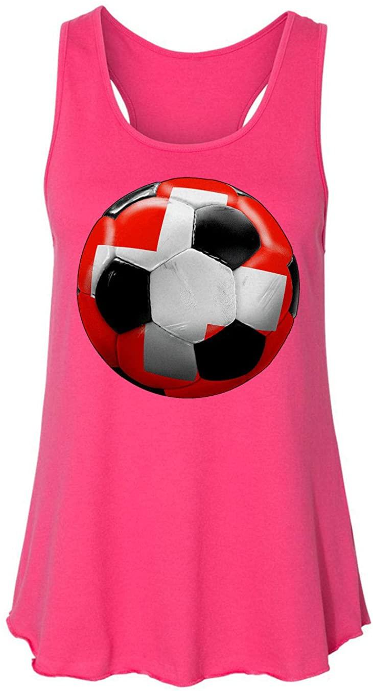 HARD EDGE DESIGN Women's Switzerland Soccer Tank Top