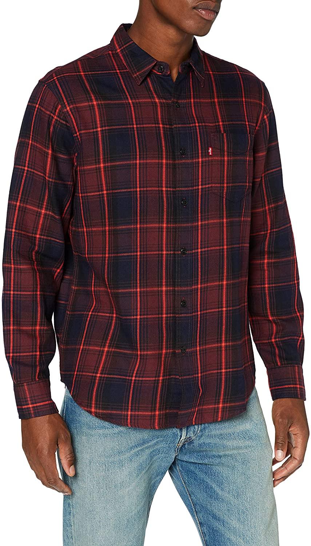 Levi's Men's Sunset Pocket Shirt, Red, M