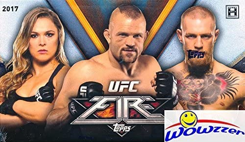 2017 Topps UFC FIRE EXCLUSIVE Factory Sealed HOBBY BOX with AUTOGRAPH! Look for Cards,Inserts and Autographs of Ronda Rousey, Conor McGregor, Garbrandt, Liddell, Silva, Nunes & Many More! WOWZZER!