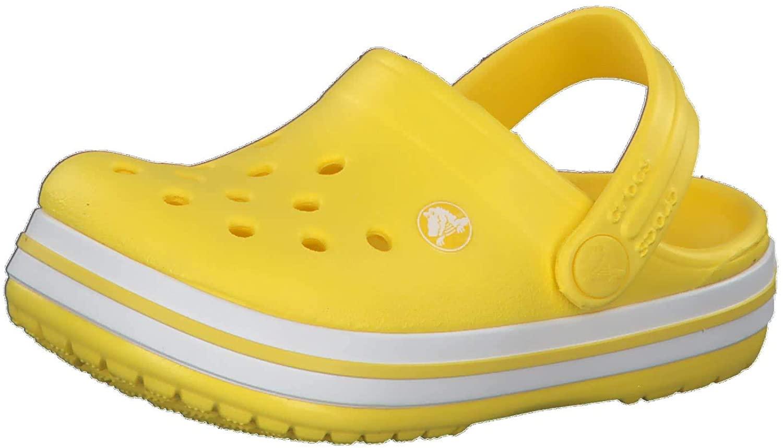 Crocs Baby Kids' Crocband Clog, Lemon, C8 M US Children