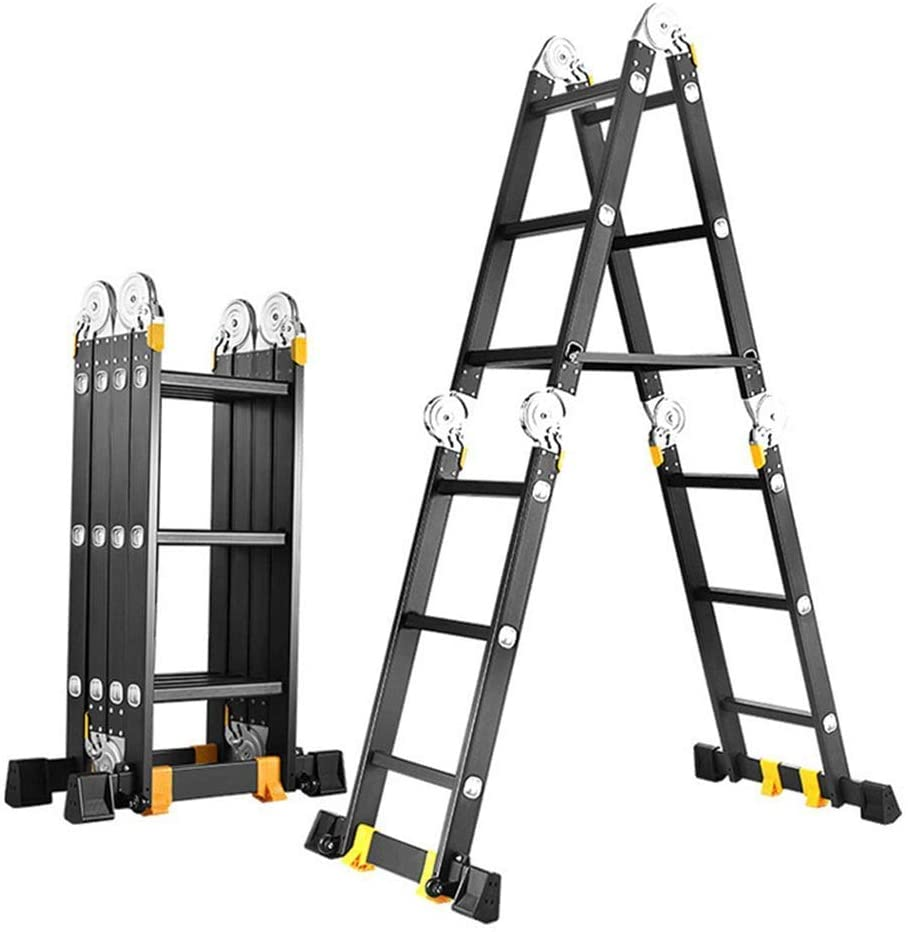 QNN Telescopic Ladder Luminium Multi Function Folding Tool Decorating Extension Loft Ladder for Indoor Multi Purpose Telescoping Ladder (Color :, Size : 9.2M)