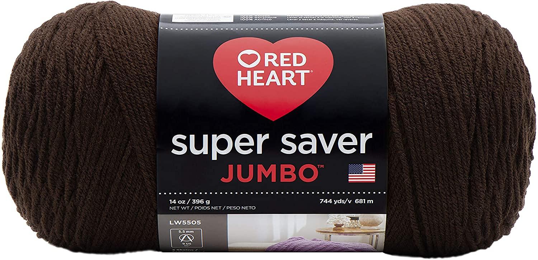 RED HEART Super Saver Jumbo Yarn, Coffee