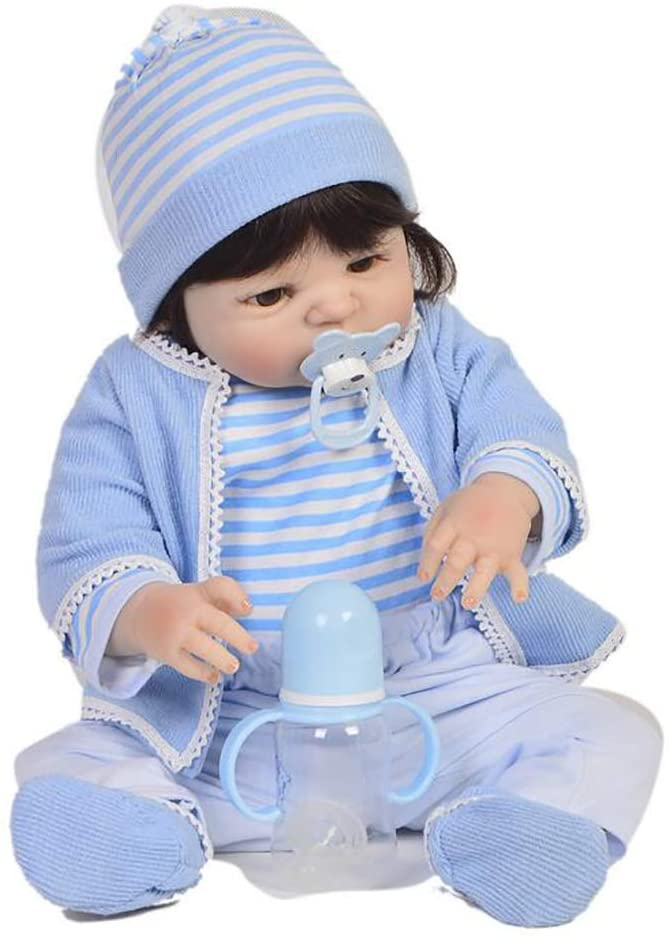 TOYSBBS 22 Inch 55cm Reborn Baby Dolls Lifelike Baby Reborn Dolls Girl Weighted Real Baby Dolls for Children Gift Toddler Dolls for Age 3+