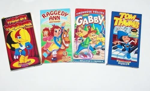 Classic Cartoons Collection #7 (4Pk): Tom Thumb; Woody Woodpecker; Gabby; Raddedy Ann and Friends