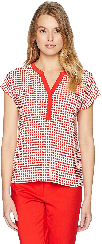Anne Klein Women's Split Placket Knit Top