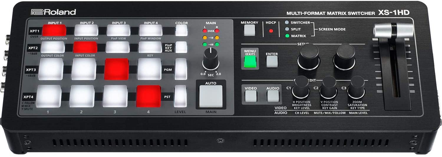 Roland XS-1HD Multi-Format Matrix Switcher with Built-in 8-Channel Mixer