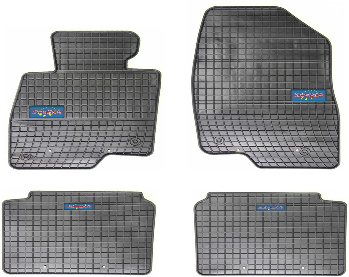 EuroTech Rubber Car Mats For Mazda 6 III 2013 - Current - No Smell - Custom set MADE IN EUROPE - Laser Measured, Waterproof, All Weather. SUV, Trucks, Cars, Auto