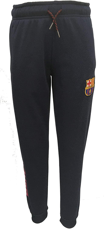 Official FC Barcelona Junior Boys Elastic Waist Jogger Style, Casual Sport Pant