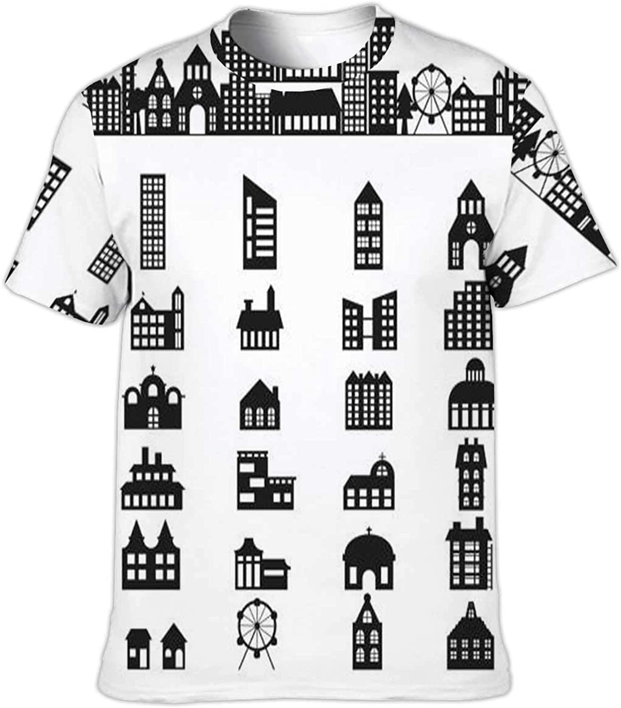 Xiriya OKJEFF 191305 Drawing line workNo.104,Funny Humor T-Shirt Cotton T-Shirt for Men/Women S