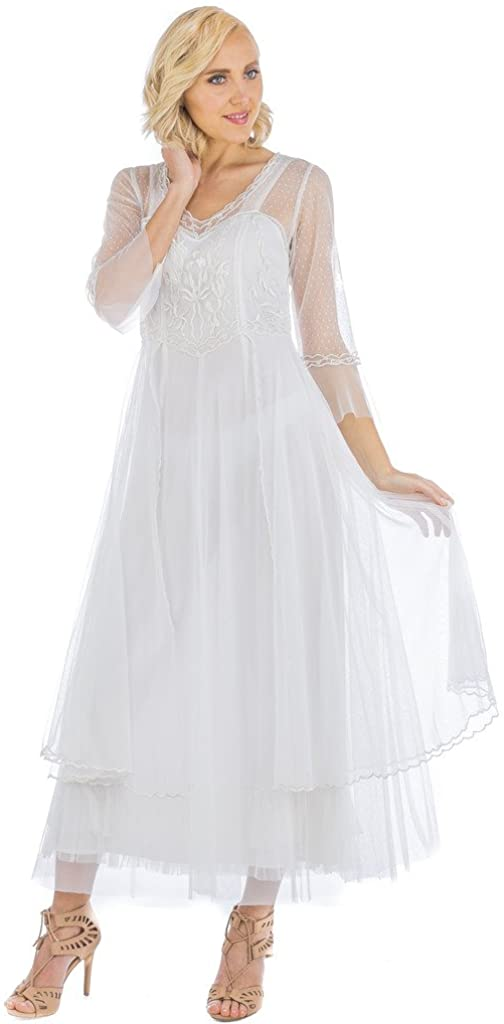 Women's Vivian True Romance Vintage Style Wedding Dress in Ivory