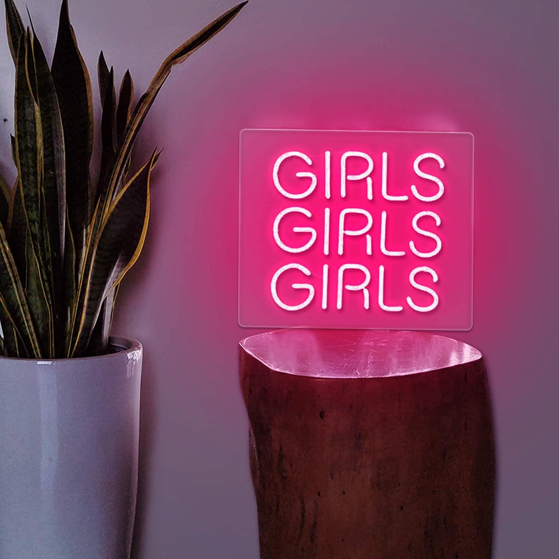 Neon Signs Girl Girls Girls Girls Real Glass Handmade 12