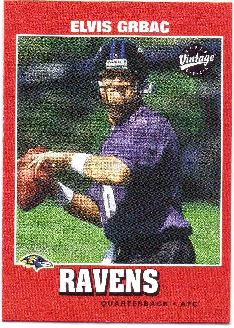 Elvis Grbac 2001 Upper Deck Vintage #13 - Baltimore Ravens