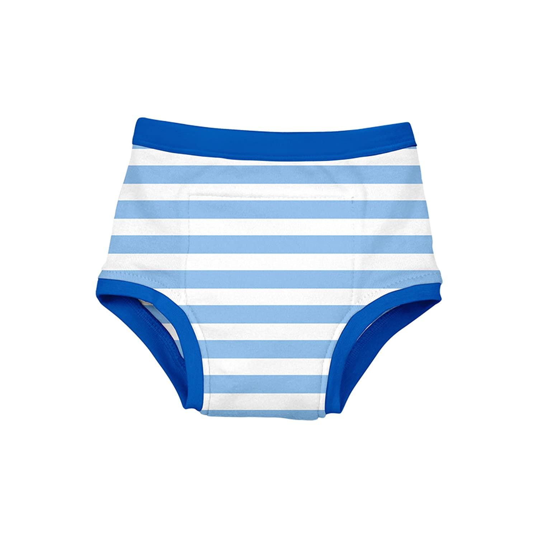 Reusable Absorbent Training Underwear-Light Blue Stripe-3T