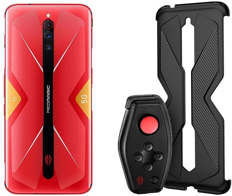Nubia RedMagic 5G Gaming Phone 8GB RAM + 128GB/smartphones -NA Version(Red+(Handle+Handle Protection Case)