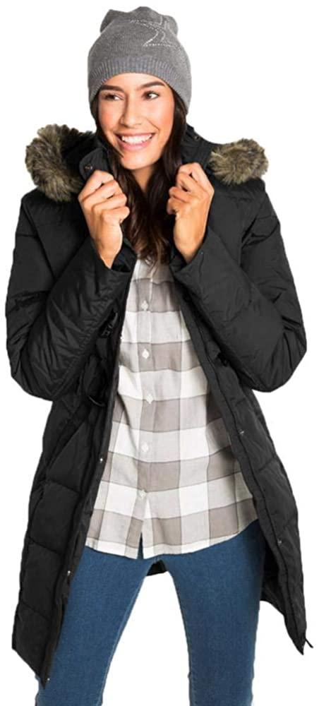XXDMZ Women's Hooded Thickened Mid-Long Down Jacket Coat Coat Warm Winter Jacket Coat