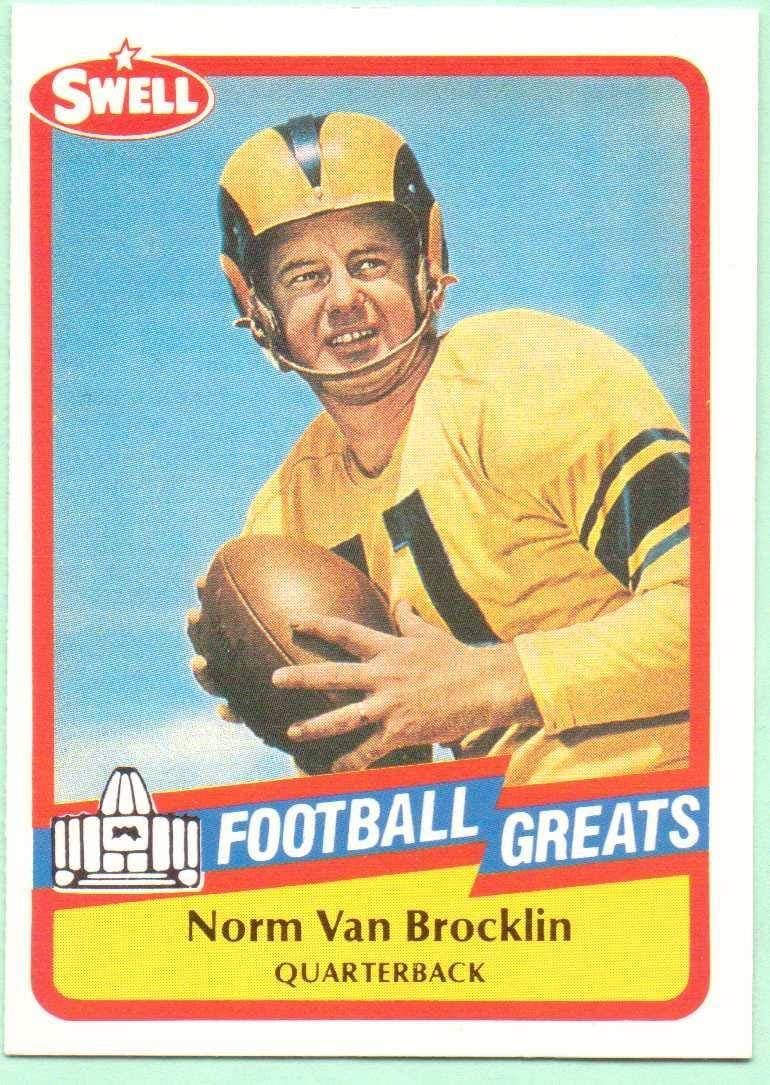 Norm Van Brocklin 1989 Swell Football Greats #41 - Los Angeles Rams