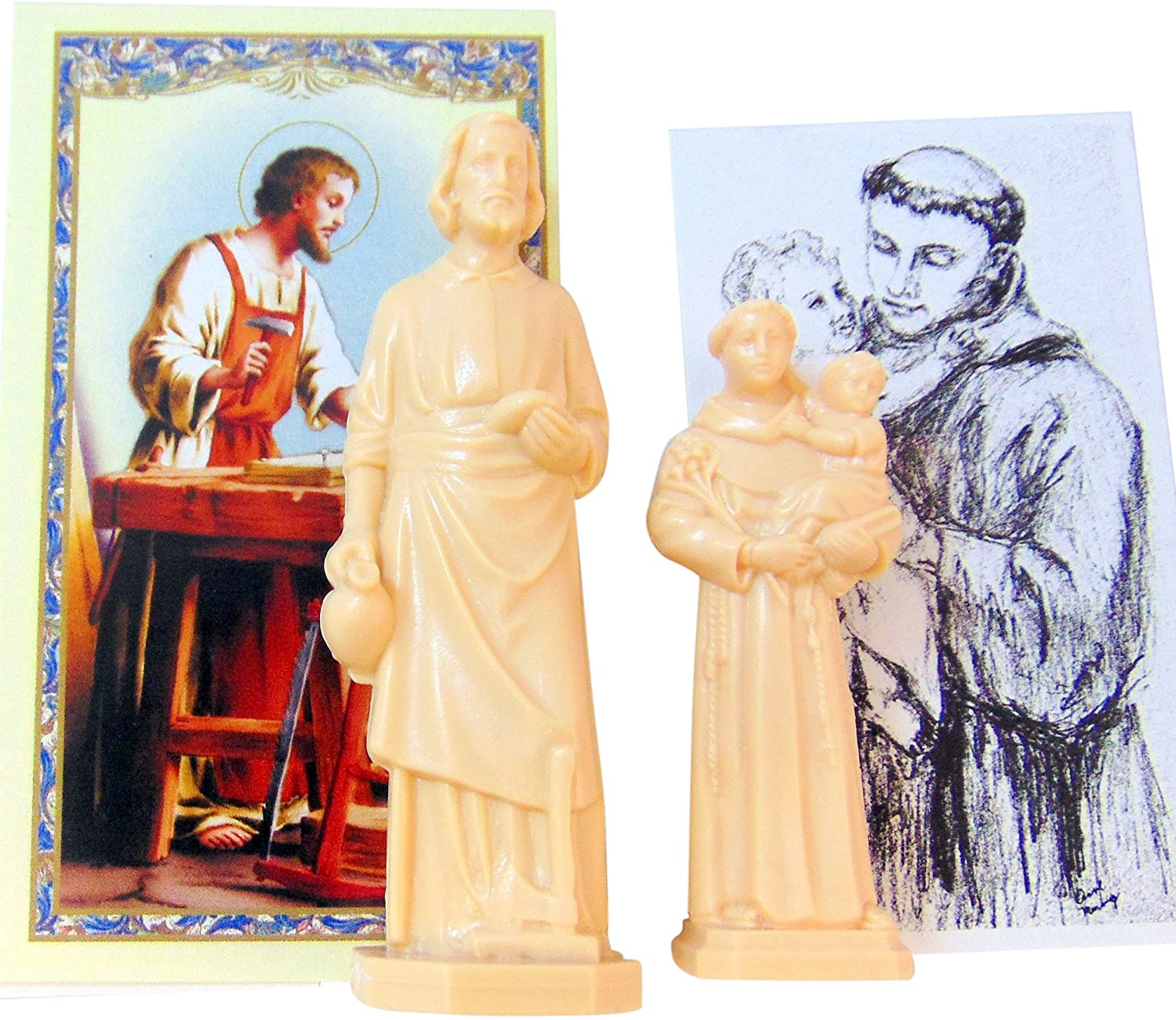 Westman Works Saint Joseph Statue Home Seller Kit with Prayer Card and Instructions with St Anthony House House Hunter Real Estate Set