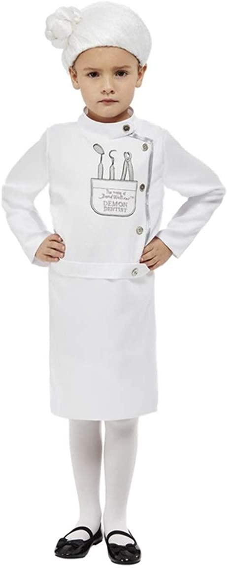 Girls David Walliams Demon Dentist + Wig World Book Day Week Fancy Dress Costume Outfit 4-12 Years