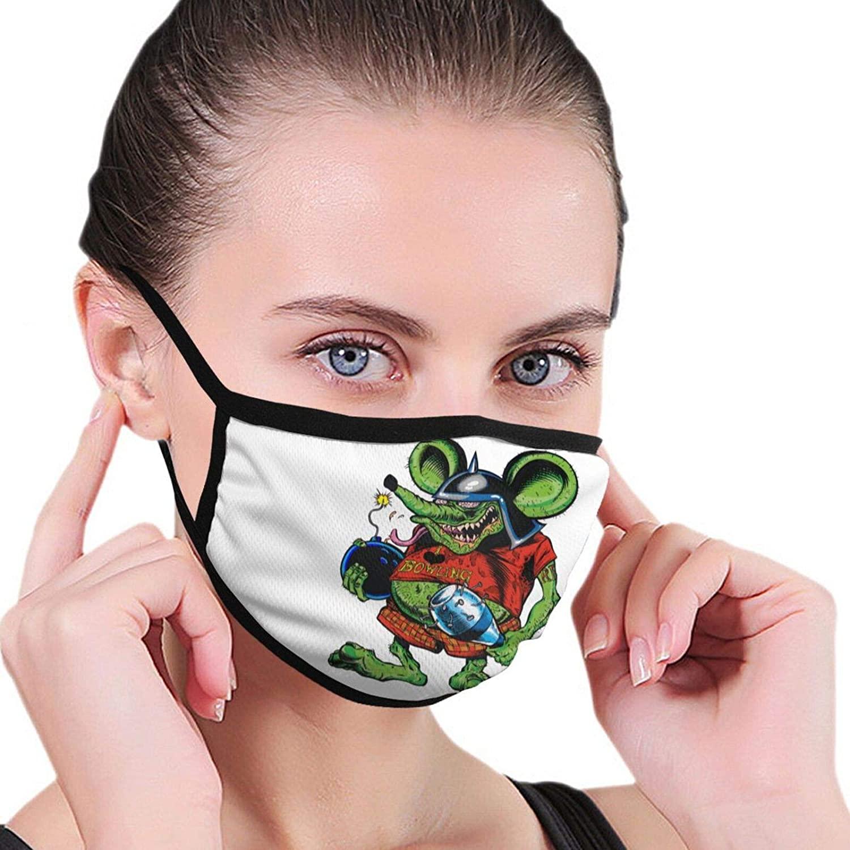 Rat Fink Outdoor Breathable Washable Mask Unisex with Elastic Ear Loop Mask Black