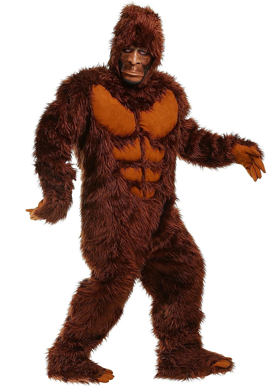 Plus Size Bigfoot Costume for Men Adult Sasquatch Costume Plus Size Bigfoot Suit & Mask