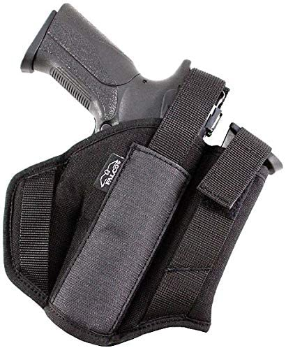 Craft Holsters Colt Gold Cup Compatible Holster - Extra Magazine Nylon Belt Holster (404)