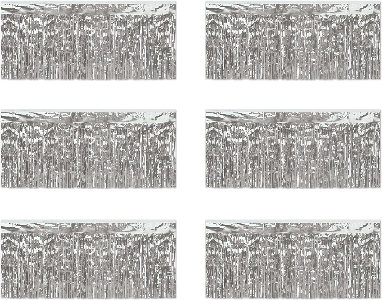 Beistle 6-Piece 1-Ply Metallic Fringe Drapes, 15 by 10-Feet