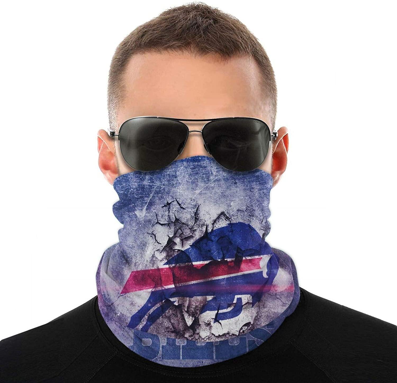 KANBGMTR Men and Women Buffalo Bill Football Bandanas, Neck Gaiter, Headwear, Magic Scarf, Headband for dust Sun Wind Unisex Balaclava Cap Face Shield