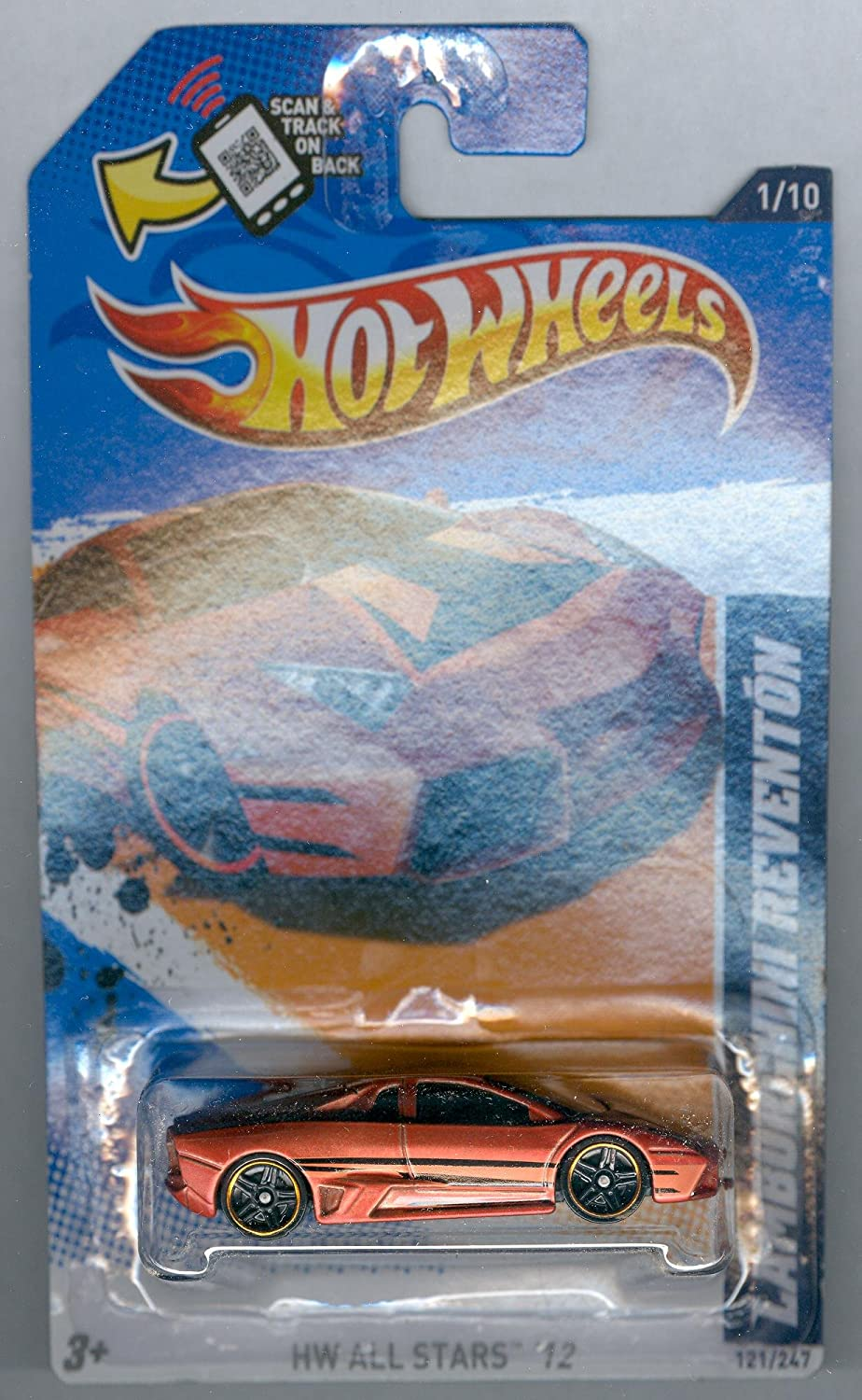 Hot Wheels 2012-121 Lamborghini Reventon BRONZE HW All Stars '12 1:64 Scale