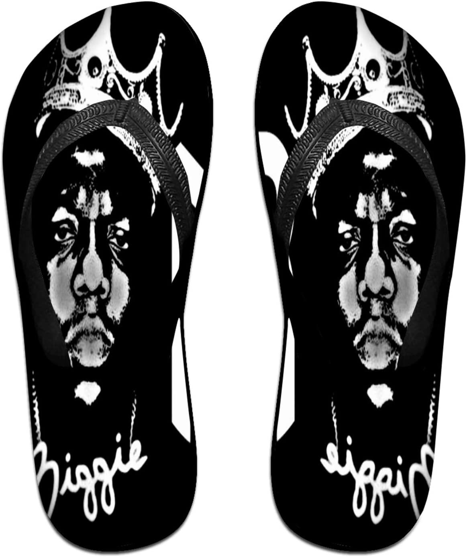 5husihai Biggie Smalls Ultra Soft Comfortable Flip Flops for Fashion Design Rubber Slide Sandals