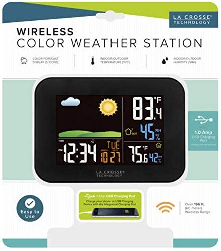 Wireless Technology Color LCD Weather Station - 60 Meter Range